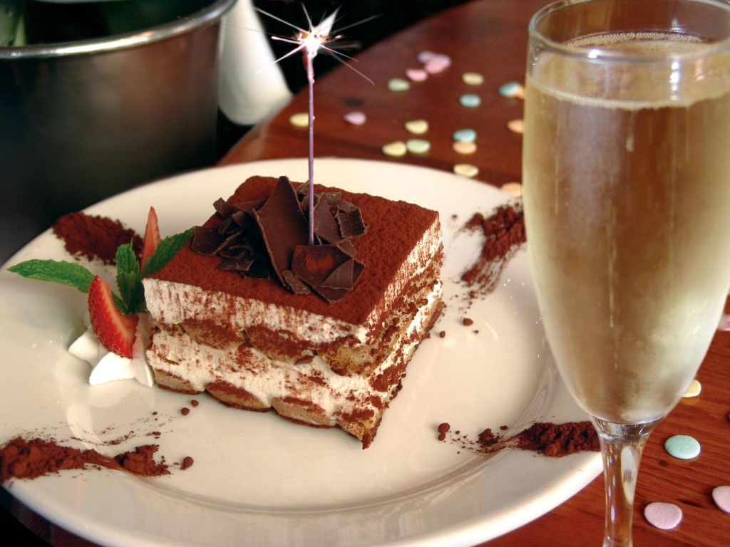 Tiramisu and prosecco