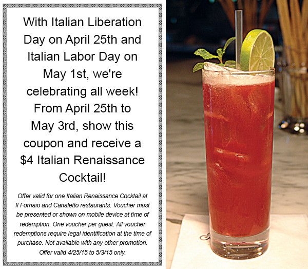 Italian Labor day offer 4.15